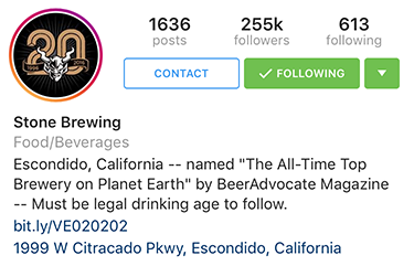5 Accounts That'll Inspire Your Instagram Stories Stone Brewing